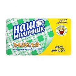Масло солодко вершкове 63% 180г ТМ Наш Молочник