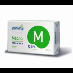 Масло Молокія вершкове Селянське 72,5% 200 г