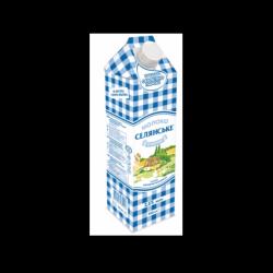 Молоко ультрапастеризоване 2,5% 950г Селянське