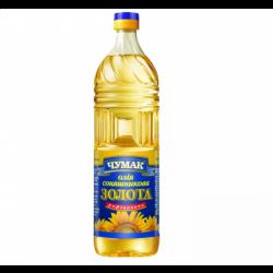 Олія соняшникова рафінована Золота 900мл Чумак