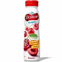"Йогурт питний вишня 2.5% 290г.""Дольче"""