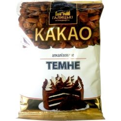 Какао порошок алкалізоване темне 100г. ТМ Галицькі традиції