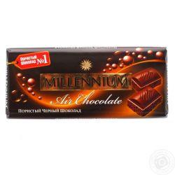 Шоколад  пористий чорний 85г Millennium